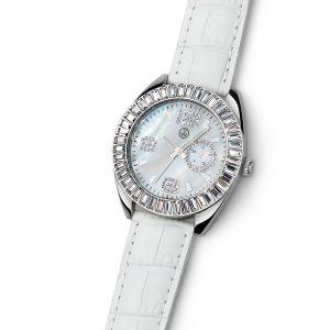 ساعت کریستال آرلون سفید