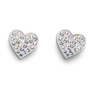 گوشواره مدل قلب خوش شانس (سفید)