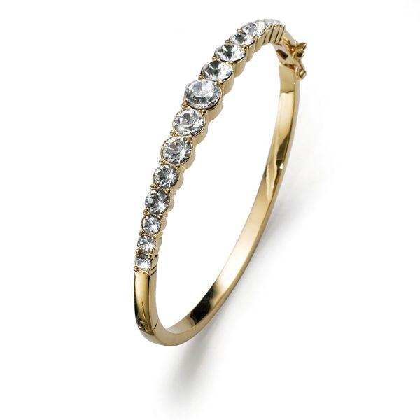 دستبند کریستال طلایی مدل مقام