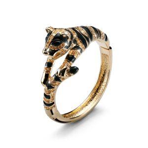 دستبند کریستال مدل ببر طلا