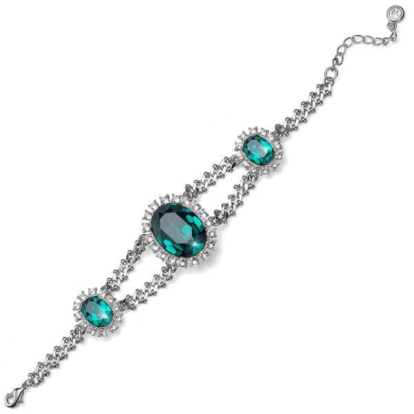 دستبند لوکس مدل زمرد سبز