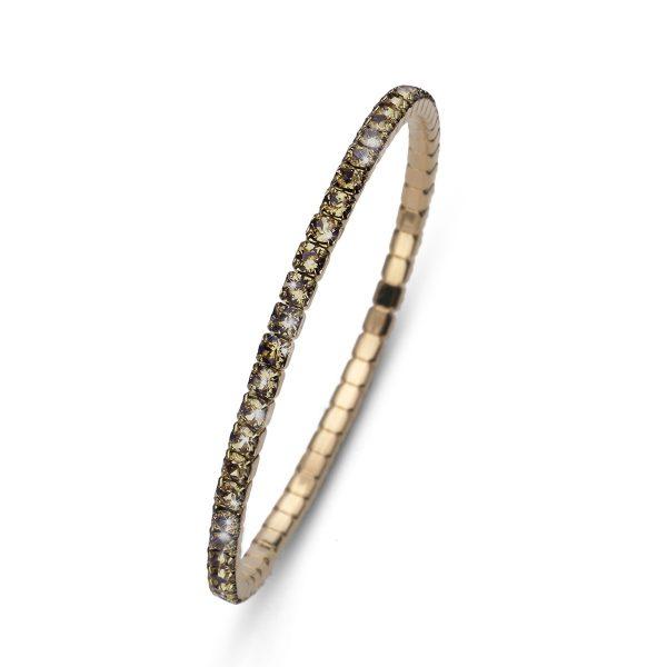 دستبند کریستال مدل دنس طلایی