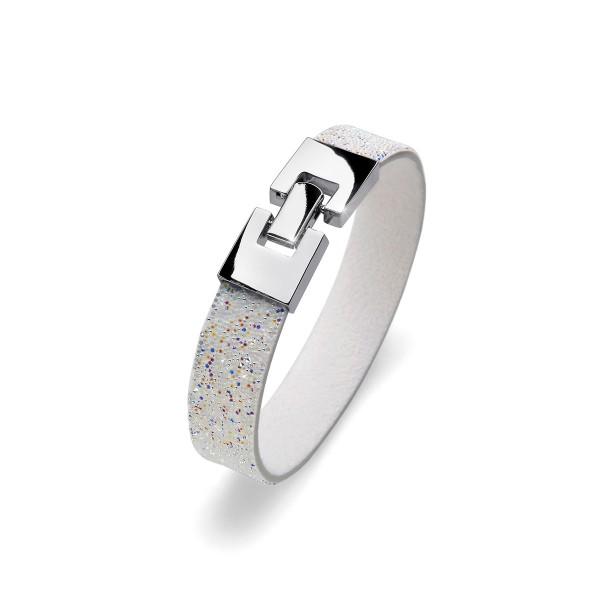 دستبند کریستال سفید مدل شانس