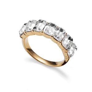 انگشتر طلایی کریستال مدل تعهد