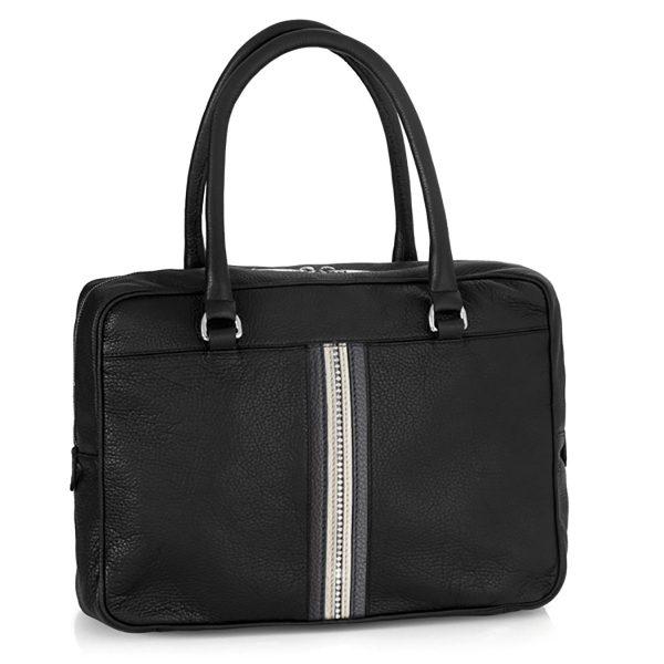 کیف چرم اداری کلاسیک (مشکی)