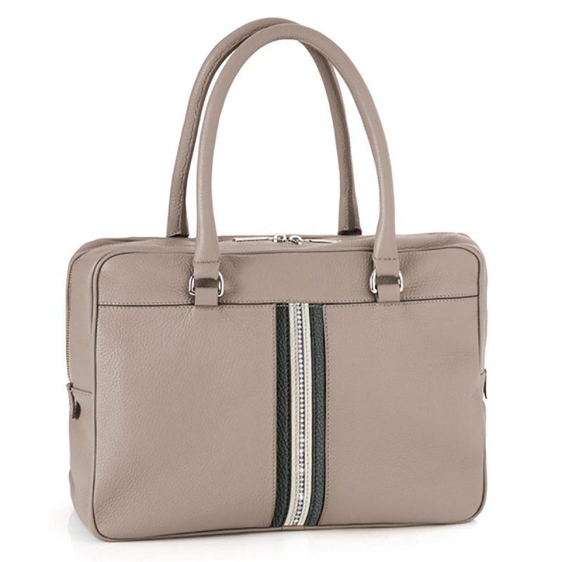 کیف چرم اداری کلاسیک (خاکستری)