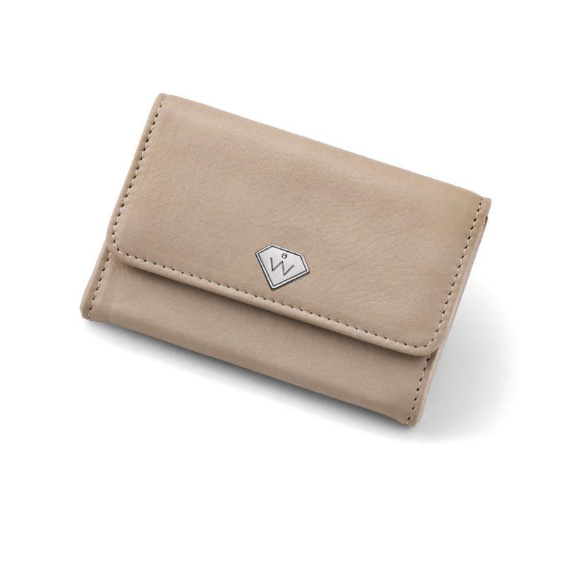 کیف پول و کلید مدل همراه (بژ)