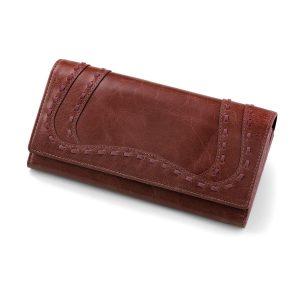 کیف پول چرم مدل پرایم (رز)