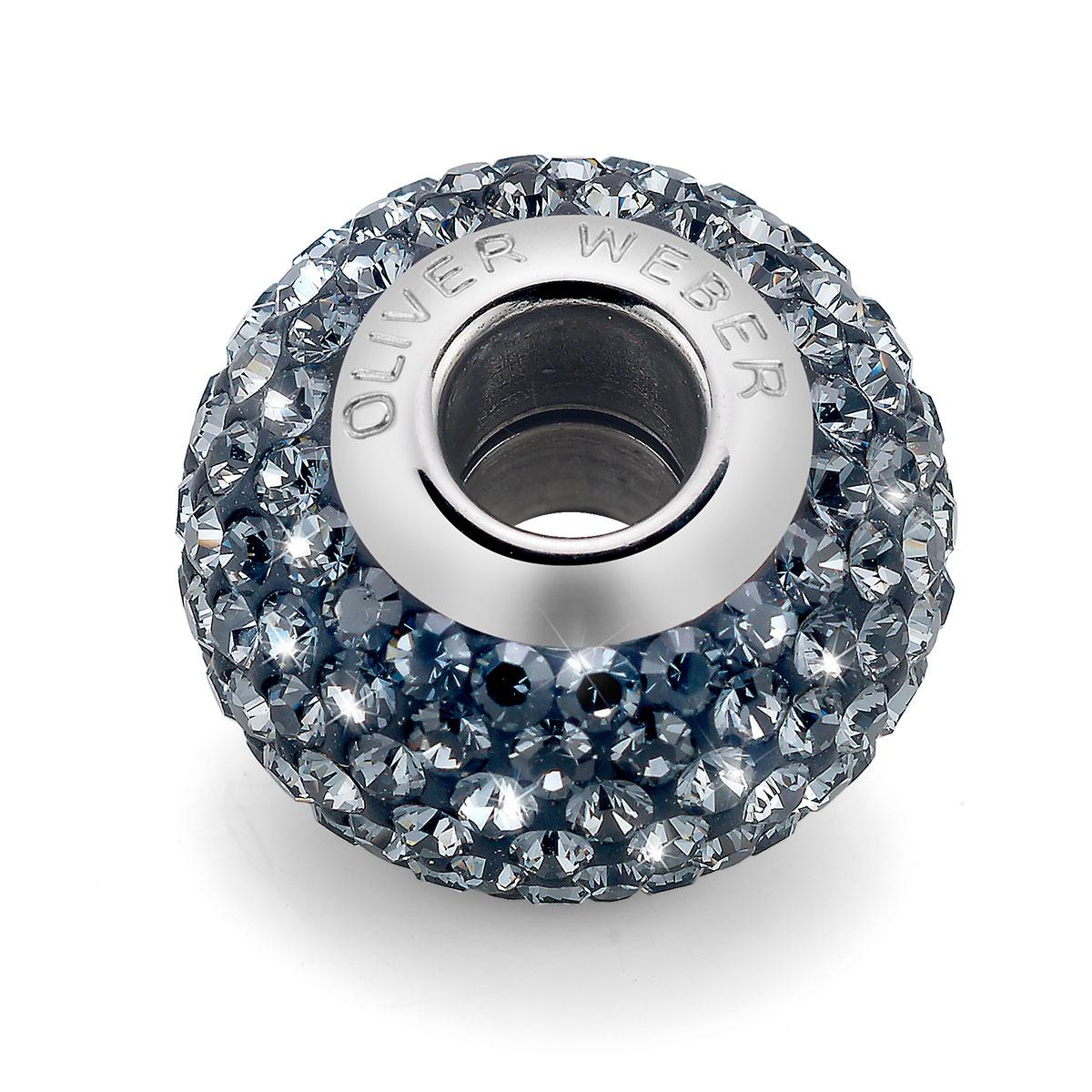 مهره دستبند استیل و کریستال مدل شاین مشکی
