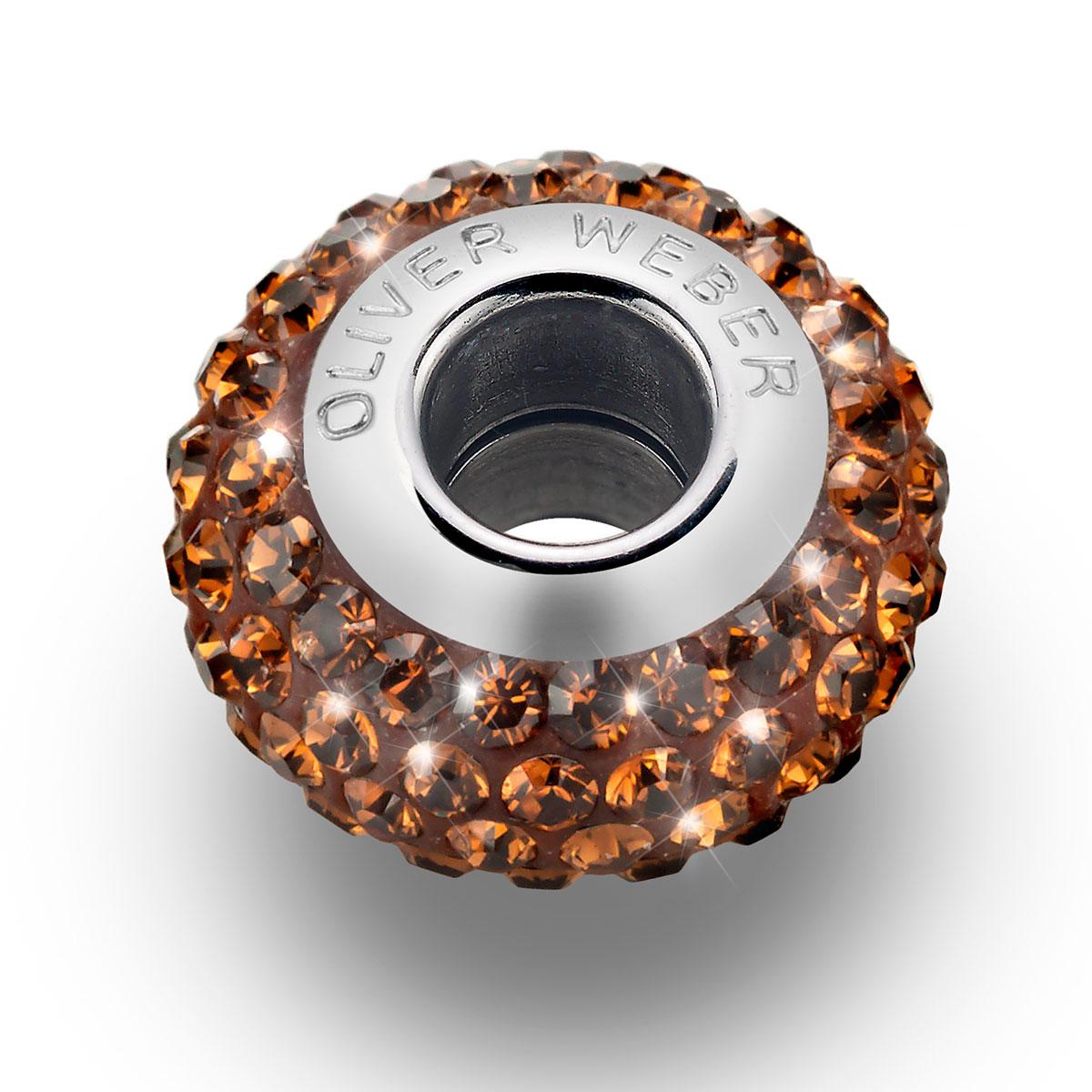 مهره دستبند استیل مدل شاین توپاز دودی