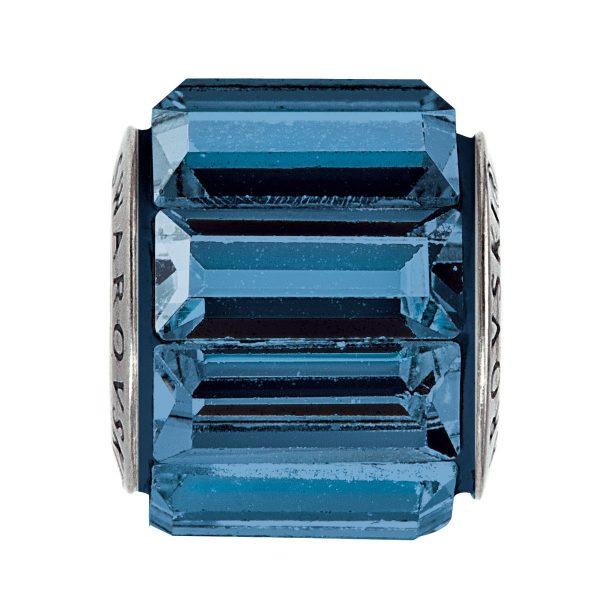 مهره دستبند استیل مدل شاین سورمه ای