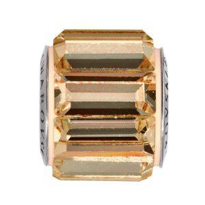 مهره دستبند استیل مدل قاب سایه طلایی