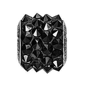 مهره دستبند استیل مدل اسپایک مشکی
