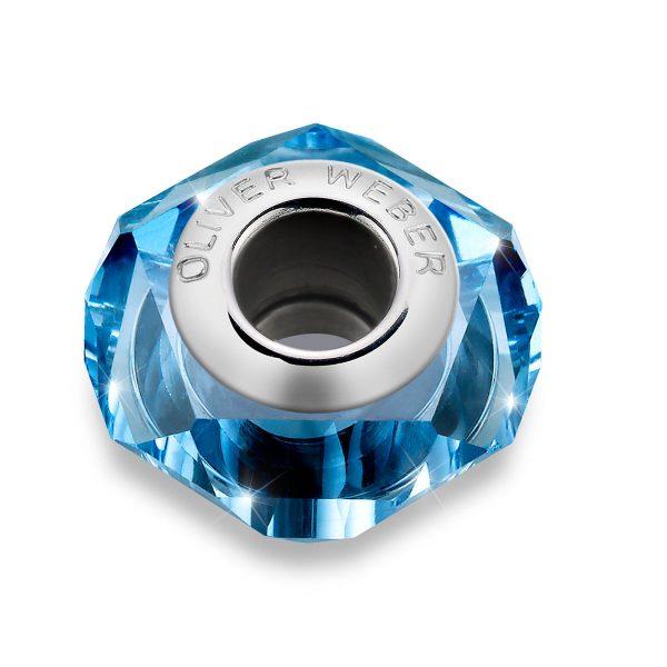 مهره دستبند استیل مدل هلیکس آبی