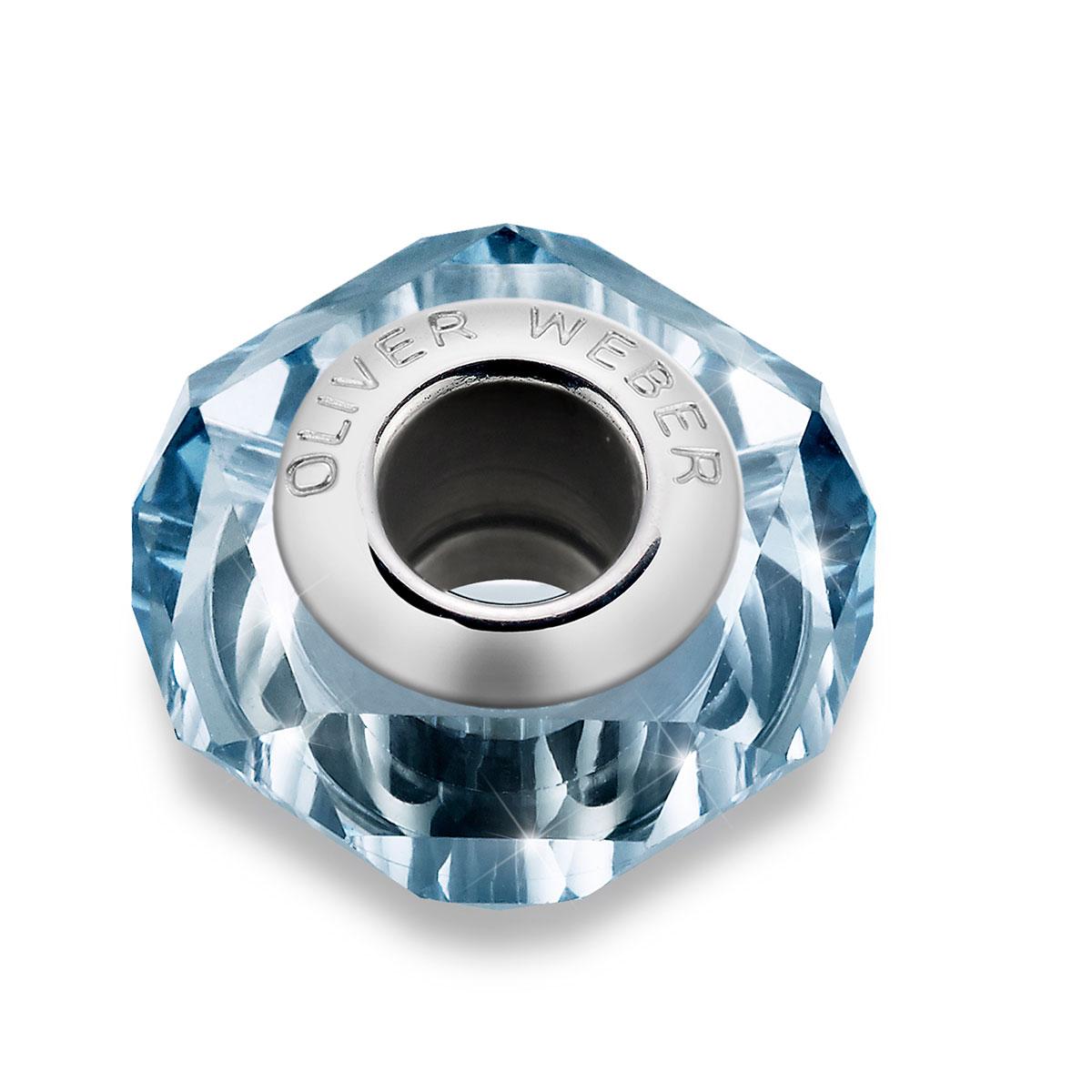 مهره دستبند استیل و کریستال مدل هلیکس