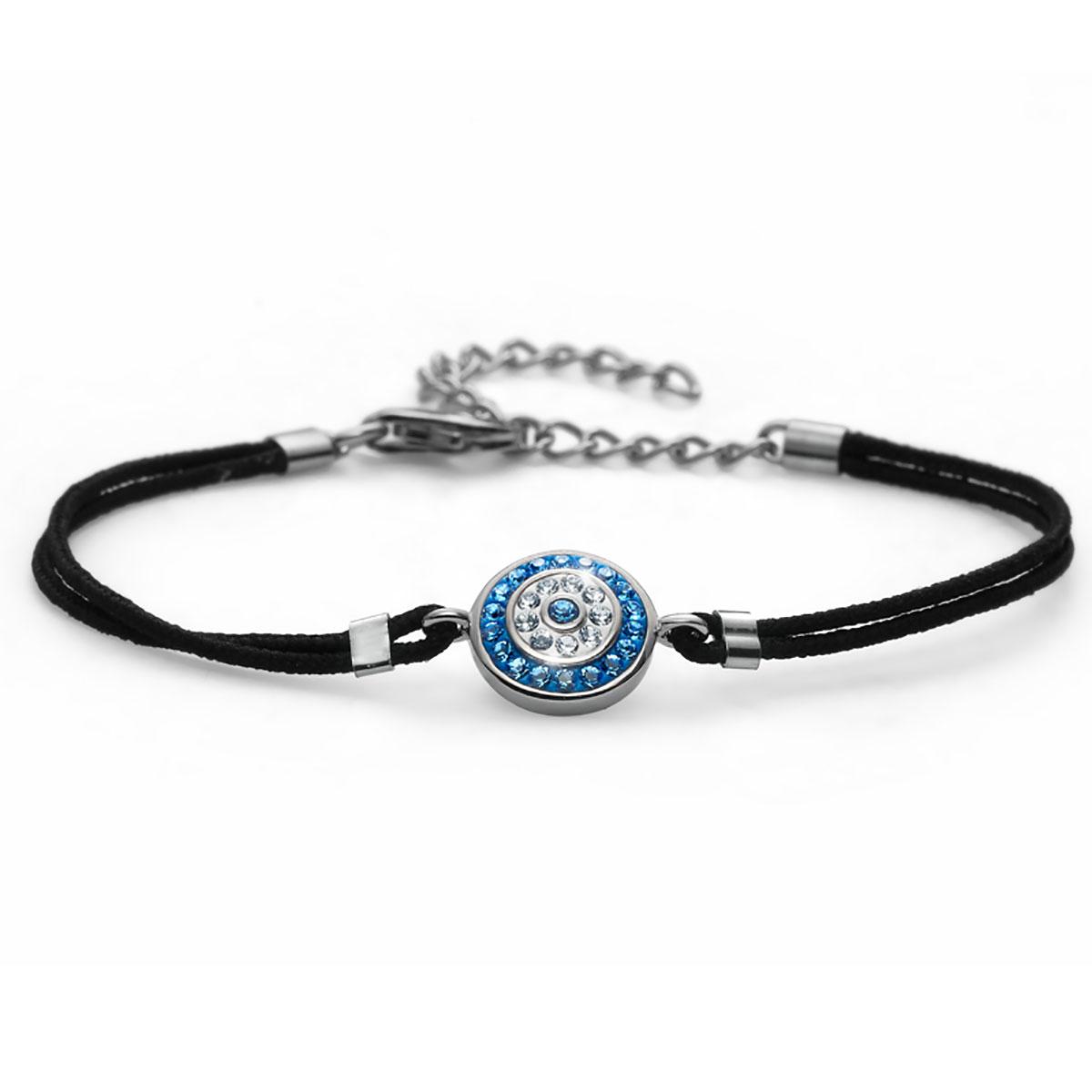 دستبند نقره مدل چشم آبی