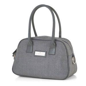 کیف دستی چرم مدل شاپر (خاکستری)