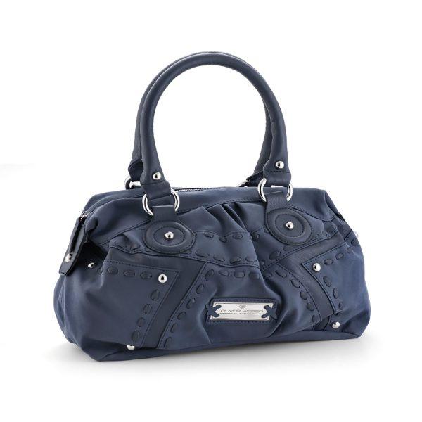 کیف دستی چرم مدل پرایم (آبی)