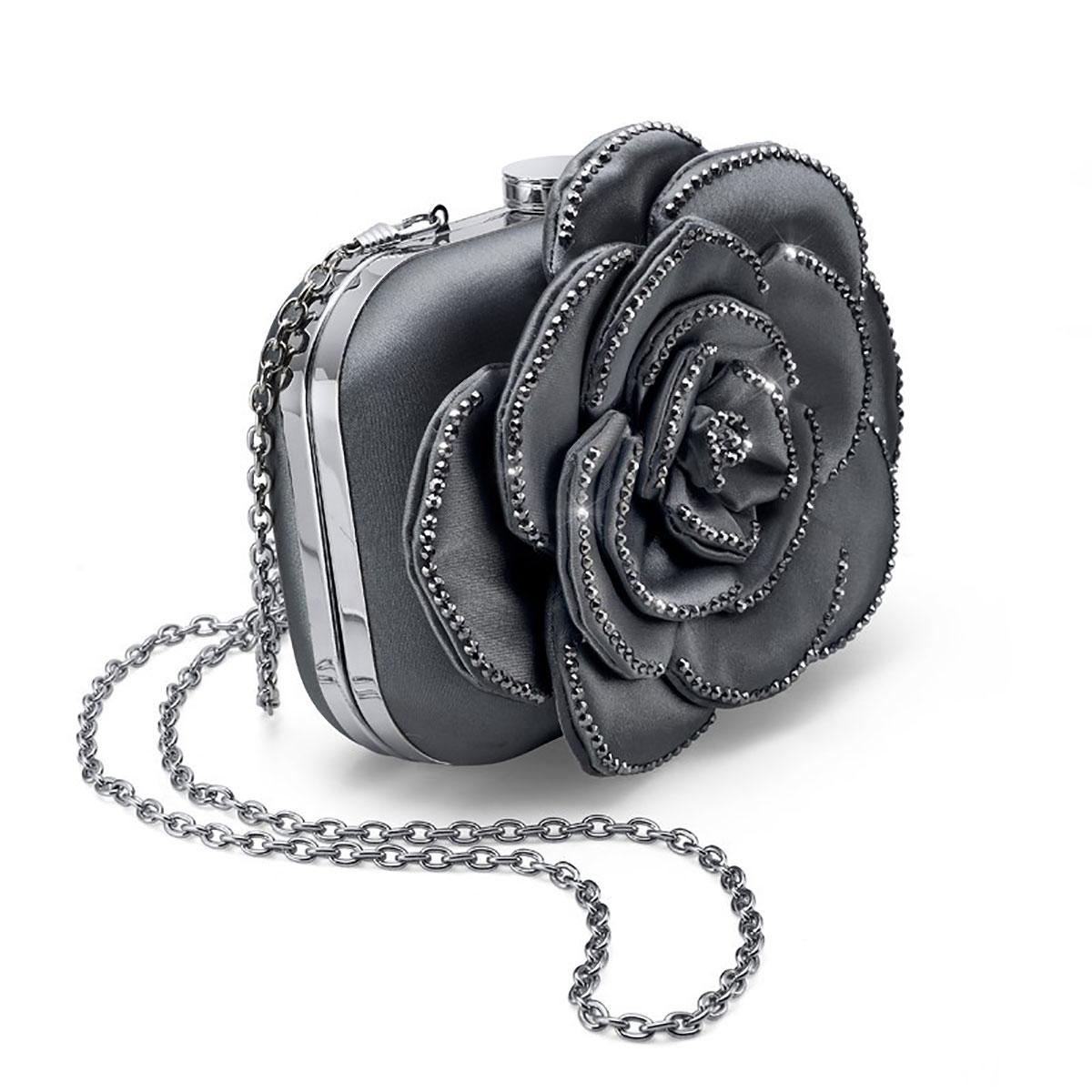 کیف دستی مدل گل مشکی
