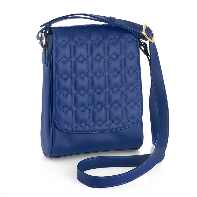 کیف دستی چرم مدل مودس واکر (آبی) 1