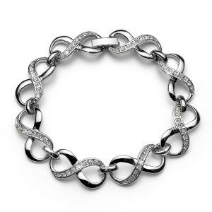 دستبند کریستال مدل بی نهایت