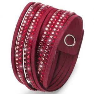 دستبند کریستال دو حلقه ای مدل آلکانترا