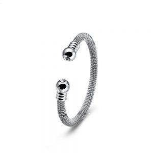 دستبند استیل و کریستال فراز
